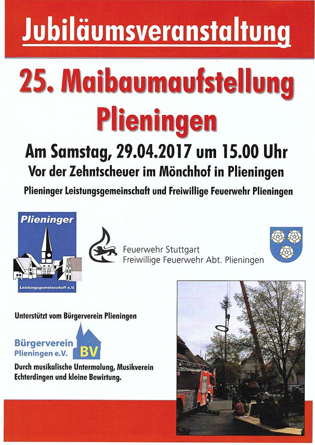 25. Maibaumaufstellung in Plieningen